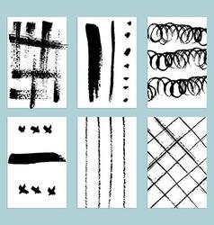 Sketch set of grunge tags vector image
