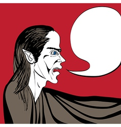 vampire talk vector image vector image