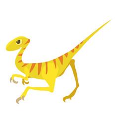 velociraptor icon cartoon style vector image
