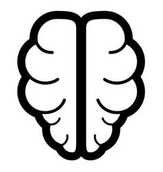 brain the black color icon vector image
