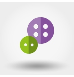 Buttons icon Fl vector image vector image