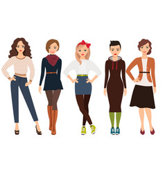 casual fashion for woman vector image