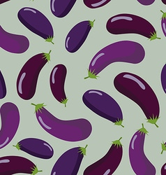 Eggplant seamless pattern Vegetable background of vector image vector image
