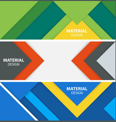 material design banners vector image vector image