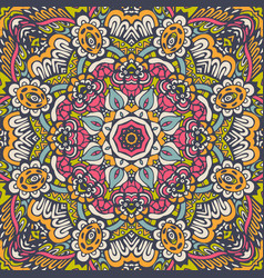 seamless flower pattern geometric print vector image