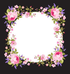 spring flowers border vector image