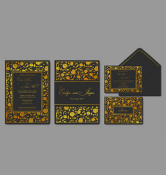 wedding invite envelope rsvp holiday card vector image vector image