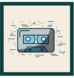 Audio cassette embellished poster vector