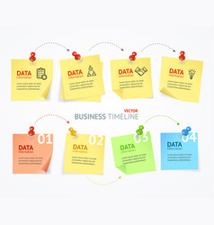 business pin paper menu infographic vector image