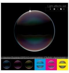 Colorful transparent Soap Bubble set vector image vector image