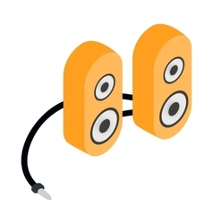 Computer speaker icon cartoon style vector image