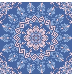 seamless Greek floral ornament Meander vector image vector image