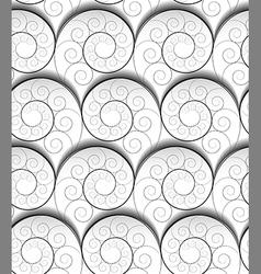 spiral pattern vector image vector image
