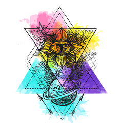 tattoo element sketch vector image