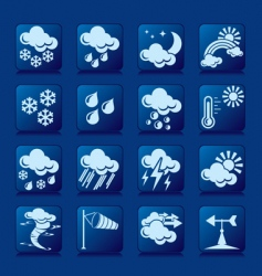 weather button vector image vector image