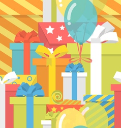 Birthday Pattern with Gifts vector image vector image