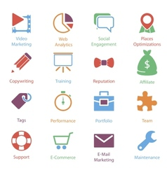 Color Internet Marketing Icons Vol 2 vector image vector image