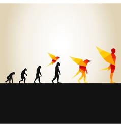 Evolution in a bird2 vector image