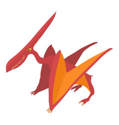 pterodactyl icon cartoon style vector image