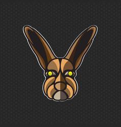 rabbit logo design template rabbit head icon vector image vector image