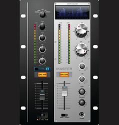 recording studio controls vector image vector image