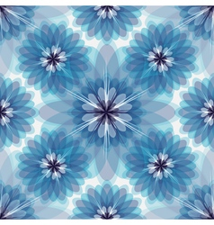 Repeating white-grey-blue floral pattern vector