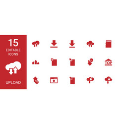 15 upload icons vector image