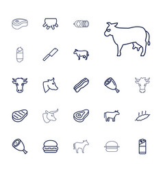 22 beef icons vector