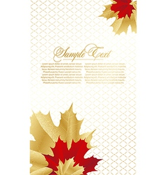 abstract card with leafs vector image