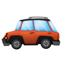 An orange car vector