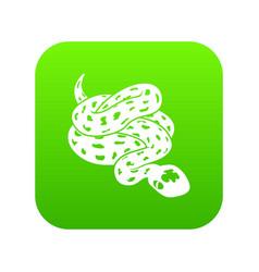 Anaconda snake icon green vector