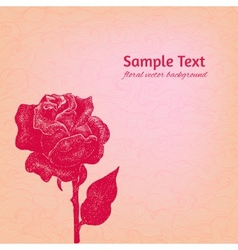 Artistic rose patterned background vector image