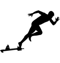 Athlete runner start to sprint vector