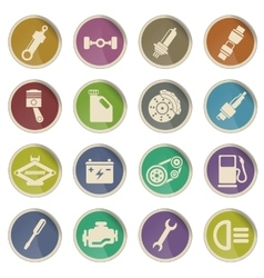 Auto Service web icons vector image