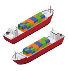 Barge Set Isometric View vector image