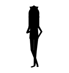 Beutiful nurse silhouette avatar character vector