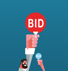 bid auction vector image