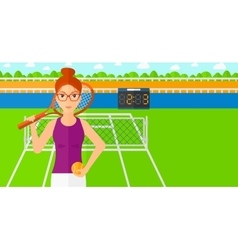 Big tennis player vector image