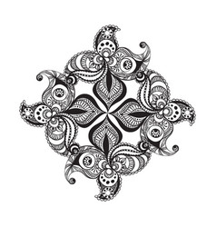 Black and white mandala pattern vector