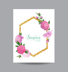 Blooming spring and summer floral design vector