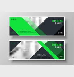 Bright web business banners in geometric style vector