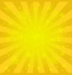 bright yellow starry background vector image
