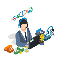 Business consultant clip art isometric style vector
