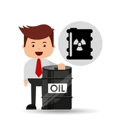 Businessman oil industry nuclear barrel vector