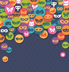 Carnival masquerade card with colorful masks vector