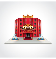 Casino building isolated vector