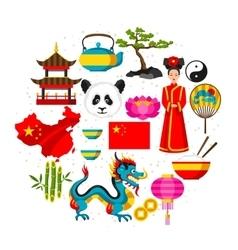 China background design Chinese symbols and vector image