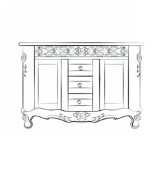 Classic sideboard furniture vector