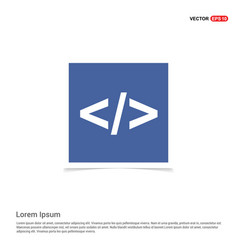 code icon - blue photo frame vector image