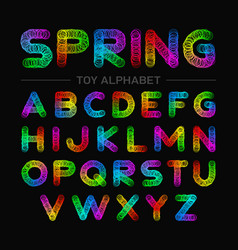 Colorful spring toy alphabet vector